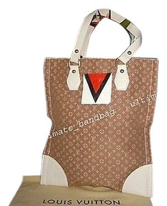 Louis Vuitton Mini Lin Tanger Sac Plat Tote in Brown