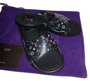 Louis Vuitton Black Spa Multi-Color Sandals