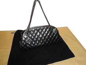 Chanel Le Bowling Patent Silver Hdw Excellent Shoulder Bag