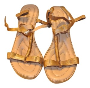 B.O.C. Brown/Gold Sandals