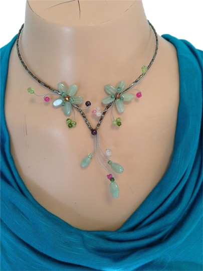 Other Flower Necklace Natural Stones