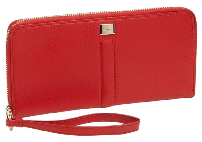 Item - Red Clutch Village Zip-around Wallet