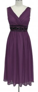 Purple Goddess Beaded Waist Dress