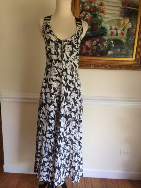 white Maxi Dress by Veronica Beard Silk Maxi Black