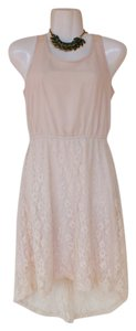 Other High Low Lace Zipper Lining Dress
