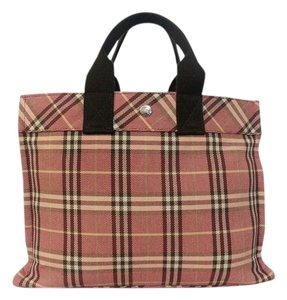Burberry Tote in Peach and Brown