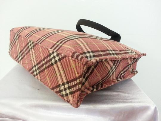 Burberry Handbag Blue Label London Tote in Peach and Brown