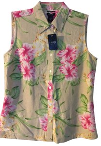 Izod Button Down Shirt Floral