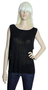 Eileen Fisher Sheer Flowy Top Black