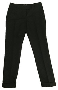 Theory Capri/Cropped Pants Black w/ Pattern