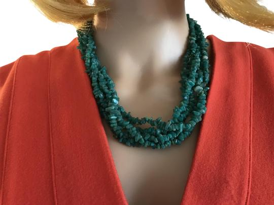 Preload https://img-static.tradesy.com/item/5513962/turquoise-green-amazonite-beaded-necklace-0-2-540-540.jpg