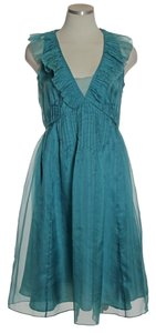 Rebecca Taylor Chiffon Silk Ruffle Dress