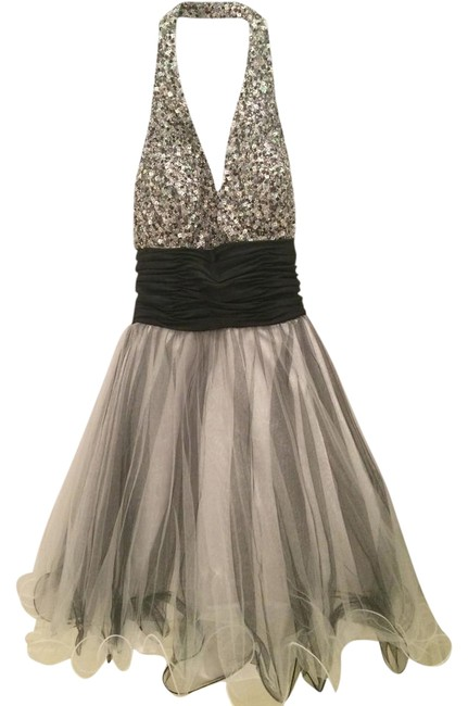 Preload https://item2.tradesy.com/images/beyond-silver-and-black-division-of-jovani-tulle-halter-short-cocktail-dress-size-2-xs-5514061-0-1.jpg?width=400&height=650