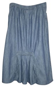 FLAX Skirt Denim Blue