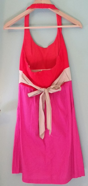 Corey P short dress Red, Pink and Tan Sundress Cotton Short Halter Mini on Tradesy