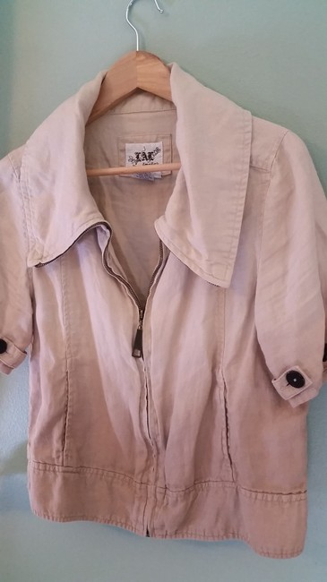 Live A Little Linen Ombre Tan/Beige Jacket