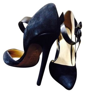 L.A.M.B. Black Leather And Suede Pumps