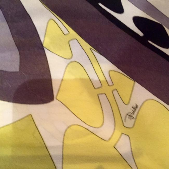 Emilio Pucci White yellow black and gold Halter Top