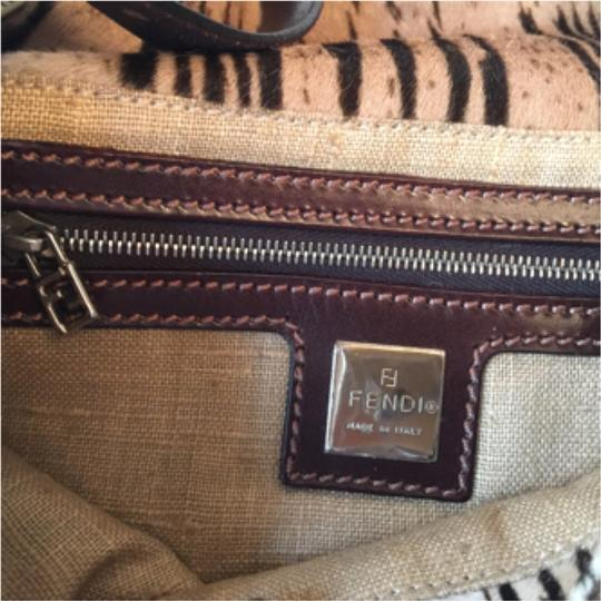 Fendi Tote in Striped Brown & Tan