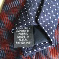 Tommy Hilfiger Navy and Red Silk Tie Outside and Navy with White Dots Inside Image 2