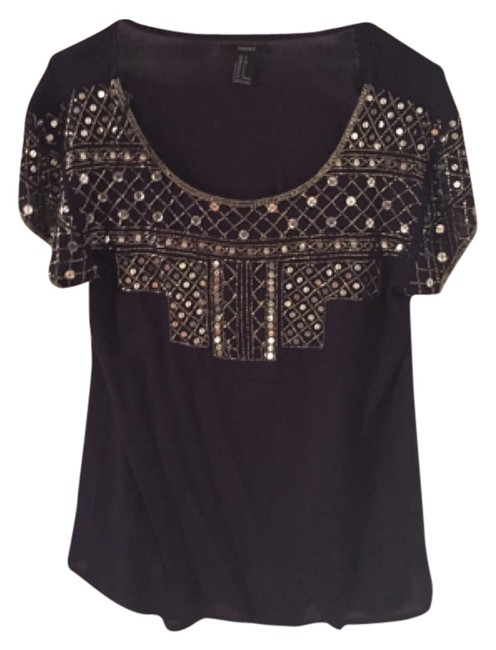 Preload https://img-static.tradesy.com/item/5515939/forever-21-bkue-sequined-navy-night-out-top-size-4-s-0-0-650-650.jpg