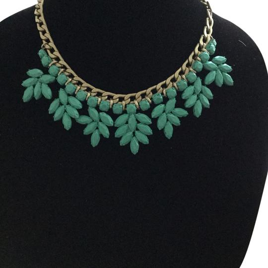 Other Brass Link Chain with Clusters of Turquoise Leaves