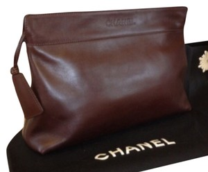 Chanel Fall Super Soft Chocolate Brown Clutch