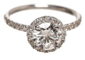 14k White Gold Round Brilliant 1.23ct Diamond GIA Certified Ring (Size 6)