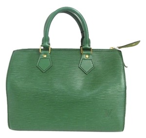 Louis Vuitton Epi Leather Satchel in Green