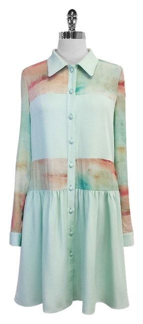 Preload https://img-static.tradesy.com/item/5517532/christian-siriano-mint-green-and-coral-print-silk-high-low-short-casual-dress-size-8-m-0-0-650-650.jpg