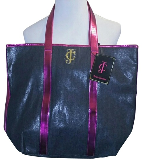 Preload https://img-static.tradesy.com/item/5517568/juicy-couture-pink-and-shimmer-black-tote-0-0-540-540.jpg