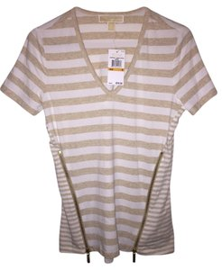 Michael Kors T Shirt Beige/White