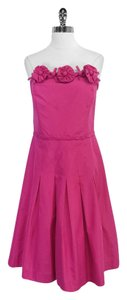 Lilly Pulitzer short dress Fuschia Silk Cotton Strapless on Tradesy