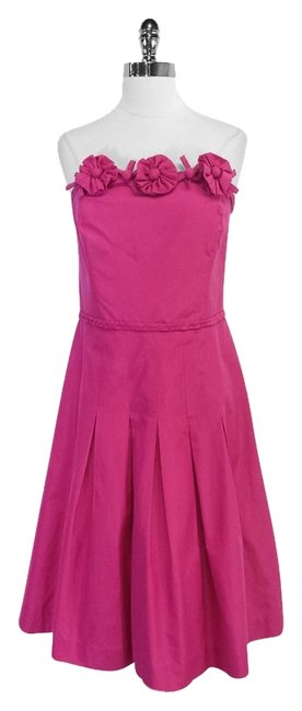 Preload https://item1.tradesy.com/images/lilly-pulitzer-fuschia-silk-and-cotton-strapless-mid-length-short-casual-dress-size-12-l-5517625-0-0.jpg?width=400&height=650