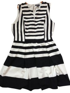 A.B.S. by Allen Schwartz short dress Black and Creme Abs on Tradesy