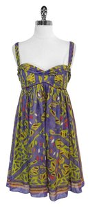Nicole Miller short dress Multi Color Print Silk Sleeveless on Tradesy