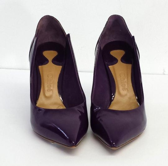 Chloé Purple Patent Leather Pointed Toe Pumps