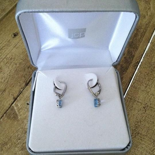 Other Swiss blue topaz sterling silver earrings