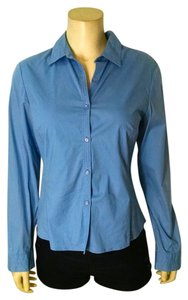 Ann Taylor Size 6 P1671 Button Down Shirt blue