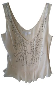Jill Stuart Silk Crystal Top Cream