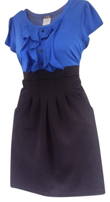 Preload https://item3.tradesy.com/images/jfw-dress-blue-and-black-5519062-0-0.jpg?width=400&height=650