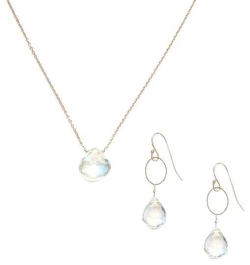 Alicia Marilyn Designs New in Box Green Amethyst and Gold filled Necklace & Earring set