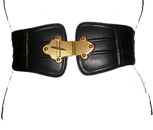 Tracy Reese Wide Adjustable Leather Belt by Tracy Reese