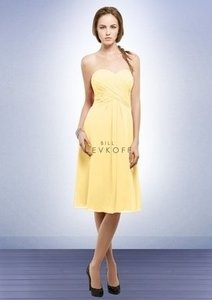 Bill Levkoff Yellow Chiffon 565 Formal Bridesmaid/Mob Dress Size 28 (Plus 3x)