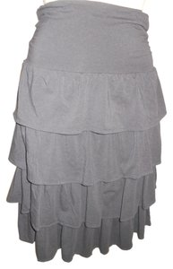 J.Crew Ruffle Skirt dark grey