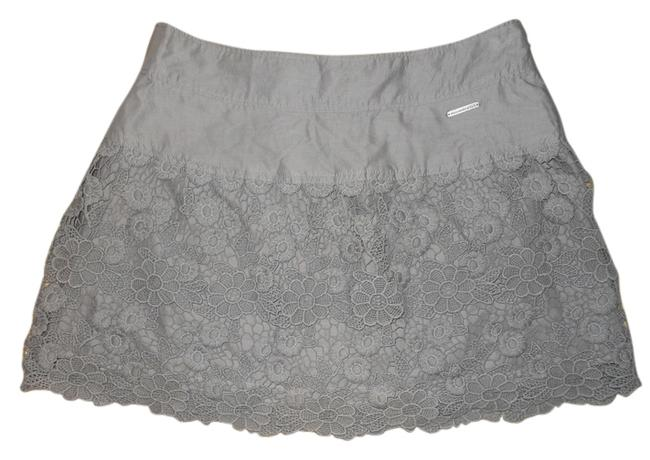 Abercrombie & Fitch Lace Mini Skirt grey