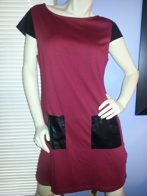 Mudpie short dress Red with black trim Shift & Front Pockets Mini on Tradesy