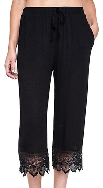 Umgee Bohemian Pants Capri/Cropped Denim-Coated