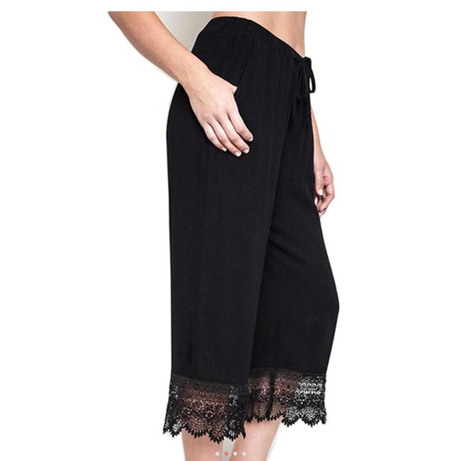 Umgee Bohemian Crochet Pants Capri/Cropped Denim-Coated