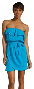 Amanda Uprichard Silk Strapless Beach Summer Dress